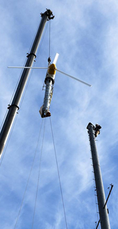 Farmpark Wind Turbine Install